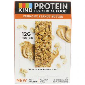 KIND Bars, Barrinhas Proteicas, Manteiga de Amendoim Crocante, 12 Barrinhas, 1,76 oz (50 g) Cada   Comprar Suplemento em Promoção Site Barato e Bom