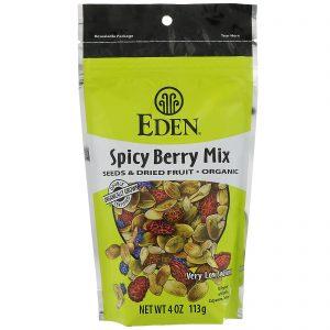 Eden Foods, Orgânico, Sementes e Frutas Secas, Mix de Frutas Silvestres Picantes, 113 g (4 oz)   Comprar Suplemento em Promoção Site Barato e Bom