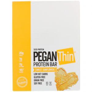 Julian Bakery, Pegan Thin Protein Bar, Sweet Sunflower, 12 Bars, 2.29 oz (65 g)   Comprar Suplemento em Promoção Site Barato e Bom