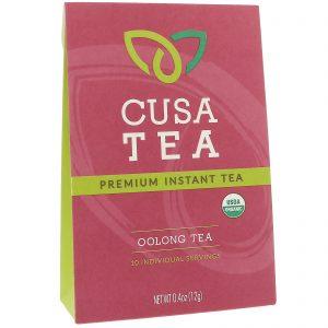 Cusa Tea, Orgânico, Chá Oolong, 10 Porções Individuais, 0,04 onças (1,2 g) cada   Comprar Suplemento em Promoção Site Barato e Bom