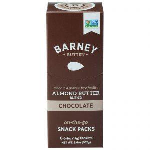 Barney Butter, Mistura de Manteiga de Amêndoas, Embalagens de Lanches Prontos Para o Consumo, Chocolate, 6 Embalagens, 0,6 oz (17 g) Cada   Comprar Suplemento em Promoção Site Barato e Bom