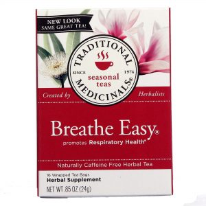 Chá de Ervas Respiração Fácil Traditional Medicinals 16 sachês   Comprar Suplemento em Promoção Site Barato e Bom