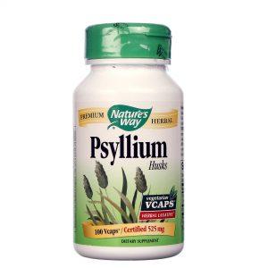 Nature's Way Casca de psyllium Cápsulas Vegetarianas 100 Cápsulas Vegetarianas   Comprar Suplemento em Promoção Site Barato e Bom
