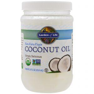 Garden of Life, Óleo de coco extra virgem, 14 onças (414 ml)   Comprar Suplemento em Promoção Site Barato e Bom