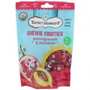 Torie & Howard, Balas Mastigáveis Orgânicas Chewie Fruities, Romã e Nectarina, 113,4 g (4 oz)   Comprar Suplemento em Promoção Site Barato e Bom