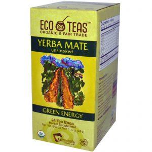 Eco Teas, Erva-Mate, Não Defumado, Energia Sustentável, 24 Sachês, 1.7 oz (48 g)   Comprar Suplemento em Promoção Site Barato e Bom