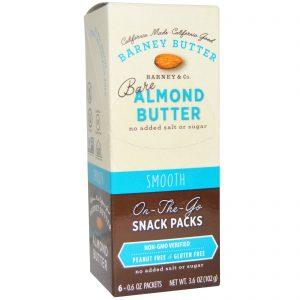 Barney Butter, Bare Almond Butter, On The Go Snack Packs, Smooth, 6 Packets, 0.6 oz (17 g) Each   Comprar Suplemento em Promoção Site Barato e Bom