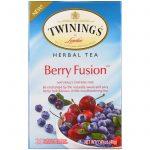 Twinings, Chá de ervas, Fusão de frutas, Não contem cafeína, 20 saquinhos de chá individuais, 1,41 oz (40 g)   Comprar Suplemento em Promoção Site Barato e Bom