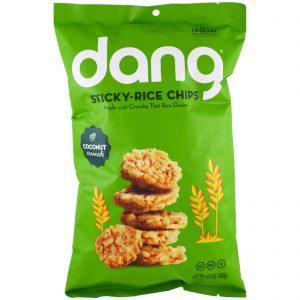Dang Foods LLC, Chips de arroz glutinoso, Coco, 3,5 oz (100 g)   Comprar Suplemento em Promoção Site Barato e Bom