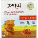 Jovial, Biscoitos de Trigo Selvagem Fermentado Orgânico, tomate, manjericão, 4,5 onças (128 g)   Comprar Suplemento em Promoção Site Barato e Bom
