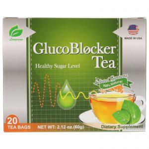 Longreen Corporation, Chá GlucoBlocker, 20 Sachês de Chá, 2,12 oz (60 g)   Comprar Suplemento em Promoção Site Barato e Bom