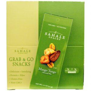 Sahale Snacks, Mix de Amêndoas Mango Tango, 9 Pacotes, 1,5 oz (42,5 g) cada   Comprar Suplemento em Promoção Site Barato e Bom