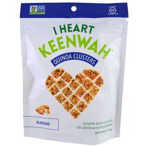 I Heart Keenwah, Quinoa em quadradinhos, Amêndoa, 4 oz (113.4 g)   Comprar Suplemento em Promoção Site Barato e Bom