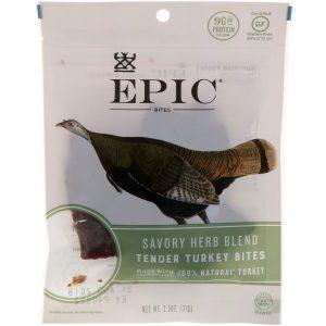 Epic Bar, Petiscos, Peru Macio, Mistura Saborosa de Ervas, 2,5 oz (71 g)   Comprar Suplemento em Promoção Site Barato e Bom