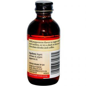 Frontier Natural Products, Essência de Menta Orgânica, Sem Álcool, 2 onças fluidas (59 mL)   Comprar Suplemento em Promoção Site Barato e Bom