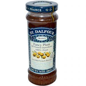 St. Dalfour, Ameixa, Geleia de Frutas, 10 oz (284 g)   Comprar Suplemento em Promoção Site Barato e Bom