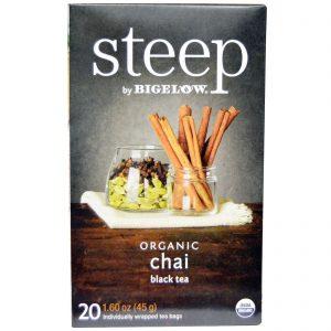 Bigelow, Infusão, Chá Preto Orgânico Chai, 20 Sachês de Chá, 1,60 oz (45 g)   Comprar Suplemento em Promoção Site Barato e Bom
