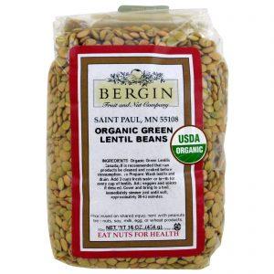 Bergin Fruit and Nut Company, Lentilha Verde Orgânica, 16 oz (454 g)   Comprar Suplemento em Promoção Site Barato e Bom