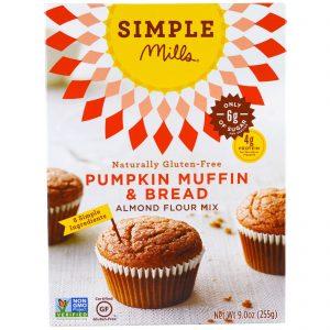 Simple Mills, Naturalmente sem glúten, Mistura de farinha de amêndoa, Muffin e pão de abóbora, 9,0 oz (255 g)   Comprar Suplemento em Promoção Site Barato e Bom