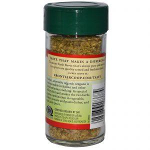 Frontier Natural Products, Flocos de Folhas de Orégano Orgânico, 0,36 onças (10 g)   Comprar Suplemento em Promoção Site Barato e Bom