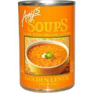 Amy's, Sopas, Lentilhas Douradas, Dal Indiano, 14.4 oz (408g)   Comprar Suplemento em Promoção Site Barato e Bom