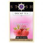 Stash Tea, Chá Descafeinado, Framboesa e Chá Branco, 18 Sachês, 1,1 oz (32 g)   Comprar Suplemento em Promoção Site Barato e Bom