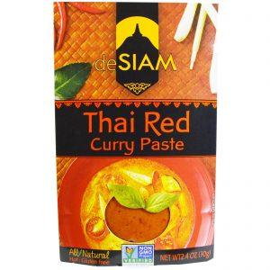 deSIAM, Pasta de Curry Vermelho Tailandês, Picante, 2,4 oz (70 g)   Comprar Suplemento em Promoção Site Barato e Bom