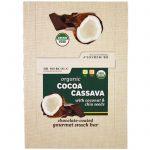 Dr. Mercola, Organic Cocoa Cassava with Coconut & Chia Seeds, 12 Bars, 1.55 oz (44 g) Each   Comprar Suplemento em Promoção Site Barato e Bom