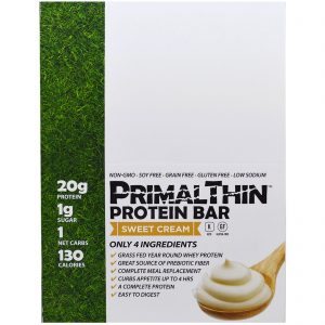 Julian Bakery, Primal Thin Protein Bar, Sweet Cream, 12 Bars, 1.9 oz (54 g) Each   Comprar Suplemento em Promoção Site Barato e Bom