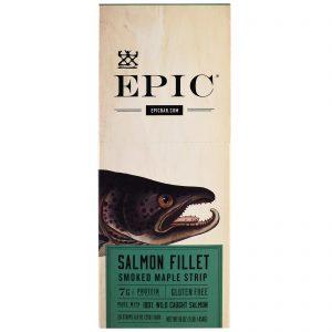 Epic Bar, Filé de Salmão em Tiras Defumadas com Bordo, 20 Tiras, 23 g (0,8 oz) Cada   Comprar Suplemento em Promoção Site Barato e Bom