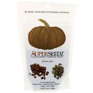 SuperSeedz, Sementes de abóbora Gourmet, Coco Joe, 5 oz (142 g)   Comprar Suplemento em Promoção Site Barato e Bom