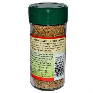 Frontier Natural Products, Semente de Cominho Orgânico, Integral, 1,68 onças (47 g)   Comprar Suplemento em Promoção Site Barato e Bom