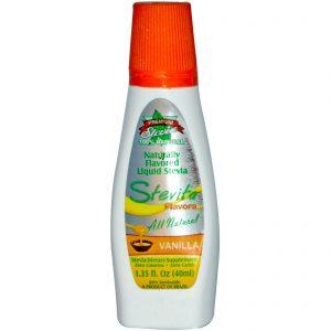 Stevita, Sabores, Estévia Líquida naturalmente aromatizada, baunilha, 1,35 fl oz (40 ml)   Comprar Suplemento em Promoção Site Barato e Bom