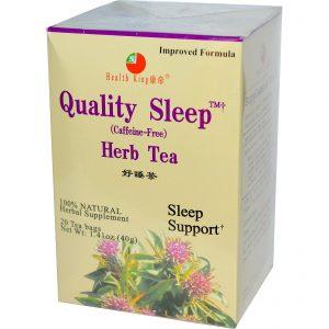 Health King, Quality Sleep, Chá Herbáceo, Sem Cafeína, 20 Saquinhos, 40 g (1,41 oz)   Comprar Suplemento em Promoção Site Barato e Bom