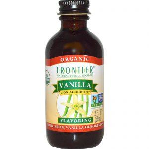 Frontier Natural Products, Orgânico, Essência de Baunilha, Não Alcoólico, 2 fl oz (59 ml)   Comprar Suplemento em Promoção Site Barato e Bom