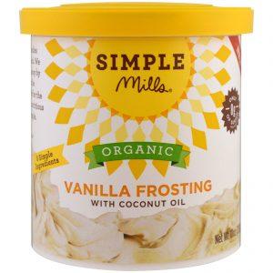 Simple Mills, Orgânico, Merengue de baunilha com óleo de coco, 10 oz (283 g)   Comprar Suplemento em Promoção Site Barato e Bom