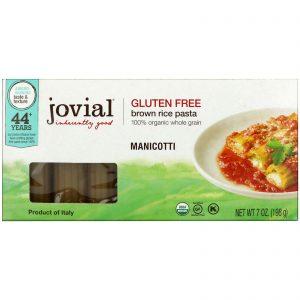 Jovial, Massa de arroz integral orgânico, manicotti, 7 oz (198 g)   Comprar Suplemento em Promoção Site Barato e Bom