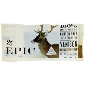 Epic Bar, Venison Sea Salt Pepper Bar, 12 Bars, 1.5 oz (43 g) Each   Comprar Suplemento em Promoção Site Barato e Bom