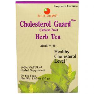 Health King, Chá de ervas para proteção ao colesterol, descafeinado, 20 sacos de chá, 1,05 oz (30 g)   Comprar Suplemento em Promoção Site Barato e Bom