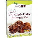 Now Foods, Orgânico, Mistura para Brownie de Chocolate, Sem Glúten, 16 oz (454g)   Comprar Suplemento em Promoção Site Barato e Bom