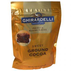 Ghirardelli, Ghirardelli, Cacau Premium para assar, cacau doce moído, 10,5 oz. (298 g)   Comprar Suplemento em Promoção Site Barato e Bom