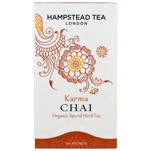 Hampstead Tea, Chá orgânico de ervas picantes, Karma Chai, 20 sachês, 40 g   Comprar Suplemento em Promoção Site Barato e Bom