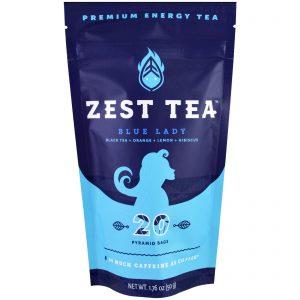 Zest Tea LLZ, Chá Energético Premium, Blue Lady, 20 Saquinhos Piramidais, 50 g (1,76 oz)   Comprar Suplemento em Promoção Site Barato e Bom
