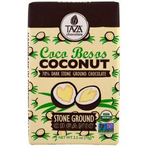 Taza Chocolate, Orgânico, Barra de Chocolate Moído em Pedra 70% Cacau, Coco Coca Besos, 70 g   Comprar Suplemento em Promoção Site Barato e Bom