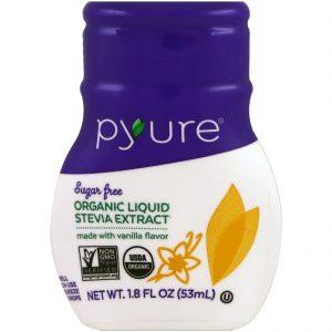 Pyure, Extrato Líquido de Stevia Orgânica, Baunilha, 1,8 fl oz (53 ml)   Comprar Suplemento em Promoção Site Barato e Bom