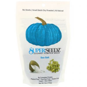 SuperSeedz, Sementes de Girassol Gourmet, Sal Marinho, 5 oz (142 g)   Comprar Suplemento em Promoção Site Barato e Bom