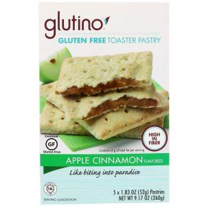 Glutino, Biscoitos Toaster Sem Glúten, Maçã e Canela, 5 Biscoitos, 1,83 oz (52 g) Cada   Comprar Suplemento em Promoção Site Barato e Bom
