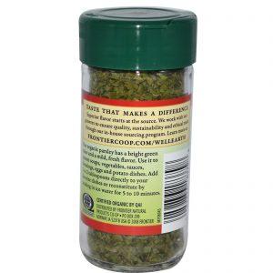 Frontier Natural Products, Flocos de Salsinha Orgânica, Integral, 0,24 onças (6 g)   Comprar Suplemento em Promoção Site Barato e Bom