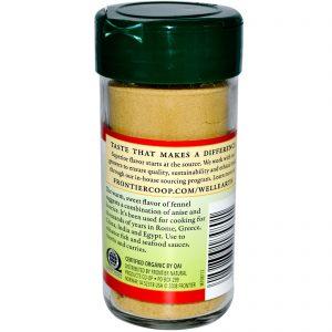 Frontier Natural Products, Semente de Funcho Orgânico, Moída, 1,48 onças (42 g)   Comprar Suplemento em Promoção Site Barato e Bom
