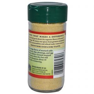 Frontier Natural Products, Semente de Mostarda Orgânica, Moída, 1,80 onças (51 g)   Comprar Suplemento em Promoção Site Barato e Bom